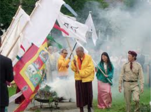 Su Eminencia Namkha Drime Rimpoché, Sákyong Mipham Rimpoché y la Sákyong Wangmo